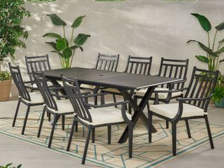 delmar outdoor dining table only matte black