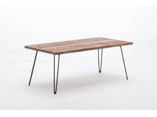 Mid Century Modern   Cocktail table Rectangle Metal legs Retail 108 99 walnut finish