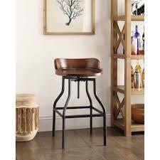 Carbon loft Richard Wood and Metal Bar Stool  Retail 131 99 chestnut and black