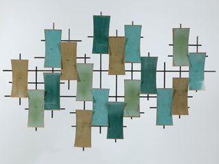 Metal Abstract Wall Decor  Retail 75 48