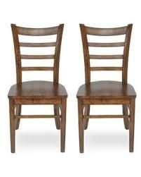 prestage rubberwood dining chairs Antique Brown Wood set of 2