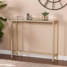 Silver Orchid Ham Narrow Console Table   Retail 109 99 gold