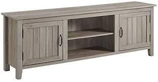 the Gray barn 70 inch simple console with grooved doors grey wash