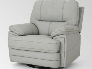 christopher knight home elodie bubba pu faux leather swivel power recliner light Grey Retail 571 99