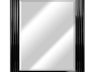 America art decor everett rectangular framed wall vanity mirror chrome