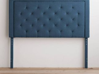 BROOKSIDE Upholstered Headboard only with Diamond Tufting  Retail 139 49 navy twin