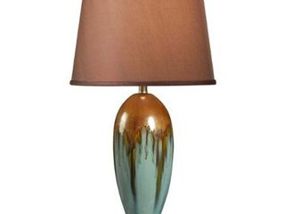 Bellmore Teal Ceramic Glaze 3 way 31 5 inch Table lamp  Retail 148 49 teal