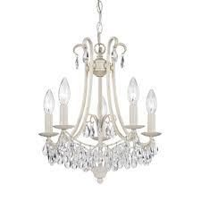 luxe Glam 5 light Chandelier Made Of Crystal and Metal   16X14 Inches Ceiling light  Retail 227 49 antique cream