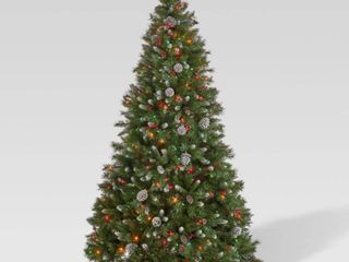 7 ft christmas tree prelite frosted branches berries pinecones by christopher knight home Multi Colored  Retail 177 49