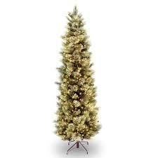 carolina pine slim tree with clear lights 9 ft Null  Retail 399 99