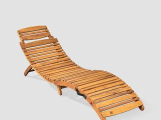 lahaina Outdoor Acacia Wood Chaise lounge by Christopher Knight Home  Retail 128 99 brown patina
