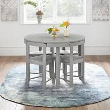 harrisburg tobey compact round dining table only grey