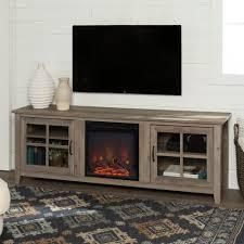 copper Grove 70 in fireplace tv cansole no insert included Birch  Retail 375 99