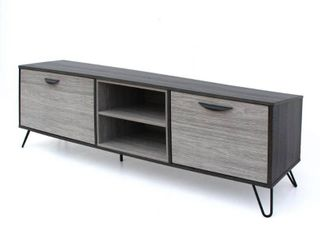 isadora mid century modern faux wood tv stand Grey  Retail 209 99