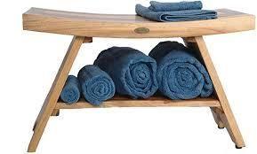 EarthyTeak Serenity Asian Style 29  Shelf Bench