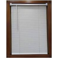 Project Source 1 inch cordless vinyl mini blind  27 x 64in