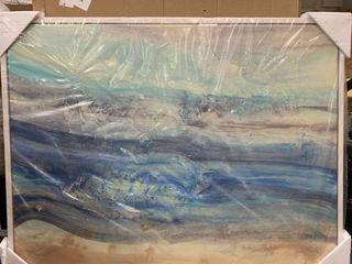 Designart Ocean Mineral Waves Nautical Canvas Print 42  x 32