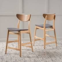 Christopher Knight Home Gavin Mid Century Wood Counter Stool Set of 2