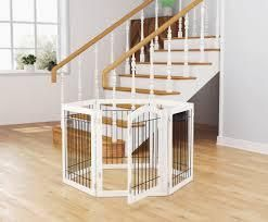 PAWlAND 144 inch Extra Wide 30 inches Tall Dog gate with Door Walk Through  Freestanding Pet Pen