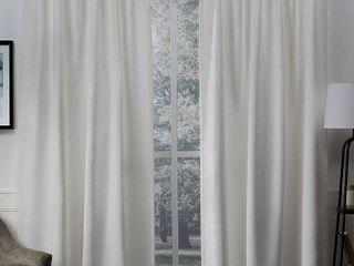 ATI Home Sateen Blackout Hidden Tab Window Curtain Panel Pair