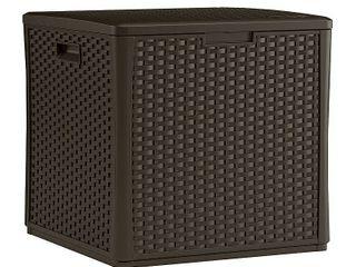 Suncast Storage Cube Resin Wicker 60 Gallon
