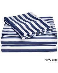Superior 600 Thread Count Cabana Stripe Cotton Blend Pillowcases  Set of 2