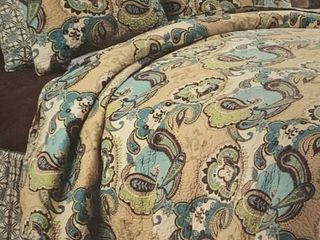 C and F Home King kabash reversible quilt set