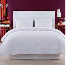 King   White  Christian Siriano NY Pretty Petals 3 Piece Comforter Set