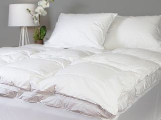 Twin xl  Grandeur Collection 300 Thread Count Cotton Down and Goose Featherbed