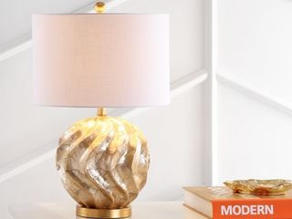 Brown Gold  Versailles 24  Sphere Sea Shell lED Table lamp  Brown Gold by JONATHAN Y