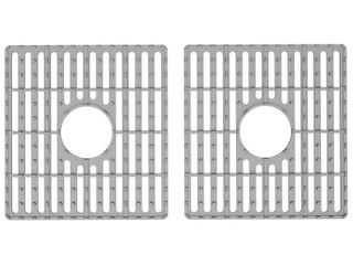 VIGO 13 25 in x 14 75 in Gray Silicone Kitchen Sink Protective Bottom Grid for Double Basin 33 in Sink