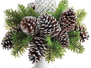 Allstate Artificial Spruce and Cone Candleholder