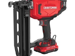 Craftsman 20V MAX Cordless 16 Ga  Finish Nailer Kit   Case Of  1  Each Pack Qty  1  tested works