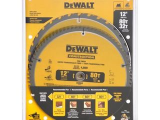 DeWalt Construction Saw Blades 12   Combo Pack   2 PK  2 0 CT