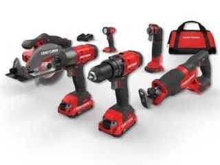 Craftsman 20V 6 tool max power tool combo  drill driver and light doesnat work  all else works