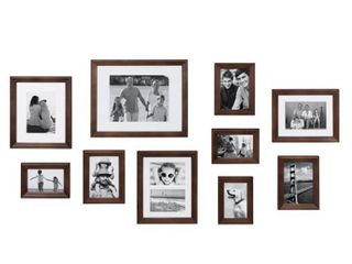Dark Espresso  Kate and laurel Bordeaux Gallery Wall Wood Picture Frame Set Retail 89 99