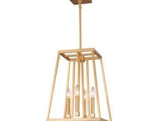 4   light Pendant  Feiss Conant 4 light Gilded Satin Brass Pendant Retail 380 90