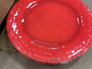 Red Orange 1 Piece  Melange 6 Piece Melamine Dinner Plate Set  Rustic Collection