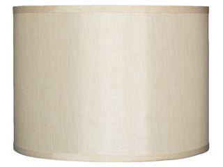 Cream   14  Classic Drum Faux Silk lamp Shade  8   16 in
