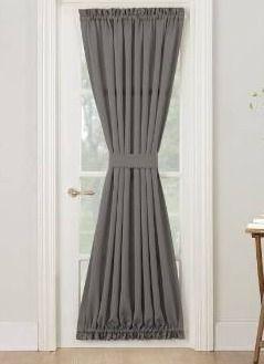54 x 72   Steel  Porch   Den Inez Patio Door Window Curtain Panel