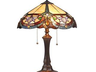 Tiffany Style 2 light Dark Bronze Table lamp Retail 164 49