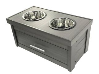 ECOFlEX Piedmont 2 Bowl Dog Diner with Storage Drawer Retail 113 49