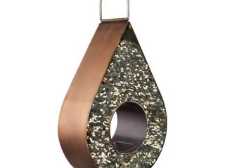 Brown  Copper Teardrop Fly Thru Bird Feeder   Extra large 6 lb  Seed Capacity By Good Directions Retail 92 23