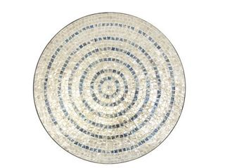 Modern 27 x 27 Inch Shell Mosaic Wooden Wall Decor by Studio 350  has a chip