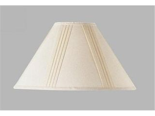Cal lighting Side Pleated Off white linen Shade