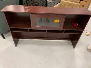 11x36x59 Desk Organizer Topper w  Glass Cubby