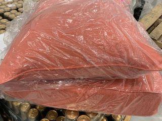 Patio cushion set coral 22x25