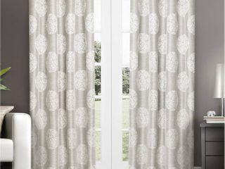 Set of 2 96 x54  Akola light Filtering Window Curtain Panels light Gray   Exclusive Home
