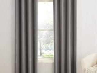 SunZero Gray Curtain Panel