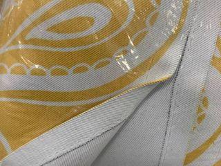 Yellow Paisley Single Curtain Panel